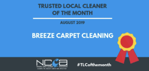 August 2019 Winner Breeze Carpet Cleaning
